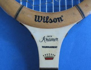 Wood Tennis Racket Racquet Wilson Jack Kramer Tournament 4 3 4