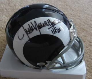 Rams Jack Youngblood Signed Replica Mini Helmet w COA