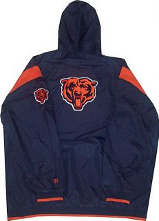 Chicago Bears NFL Windbreaker Jacket Big Tall Sizes