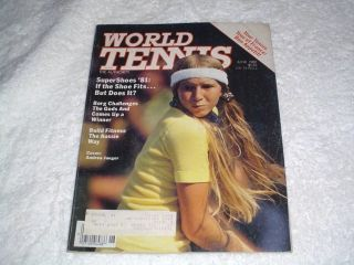 World Tennis Magazine June 1981 Jaeger Borg