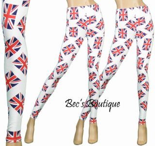 Womens Leggings Ladies British Flag London Style Union Jack Footless
