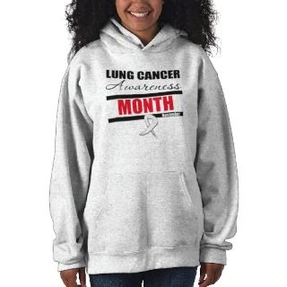 Observe Lung Cancer Awareness Month Hooded Pullover