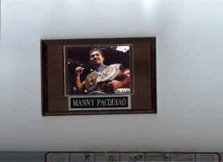 Manny Pacquiao Plaque Boxing Champion with Belts