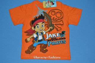 Jake and The Neverland Pirates Shirt Tee Top Size 12 18 24 Months 3T