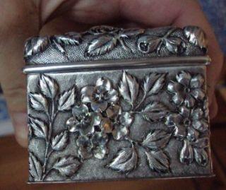 Antique Jacobi & Jenkins Sterling Silver Vanity Cufflink Ring Fine