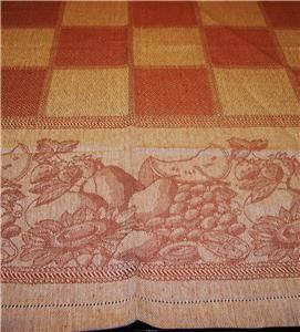 EUROPEAN FLAX LINEN COTTON BLEND JACQUARD TABLECLOTH IN ORIGINAL
