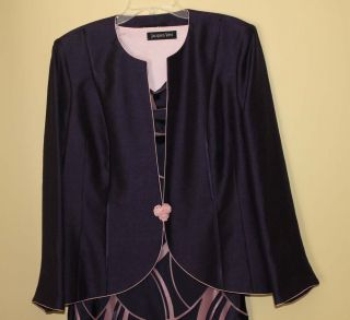 Jacques Vert Dress Jacket Mother of Bride Wedding Party Cruise Outfit