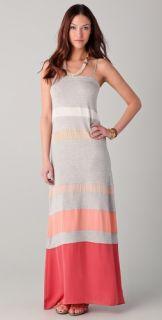 Haute Hippie Multi Striped Maxi Dress