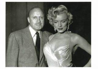 Marilyn Monroe Jack Benny Postcard Phil Stern Photo
