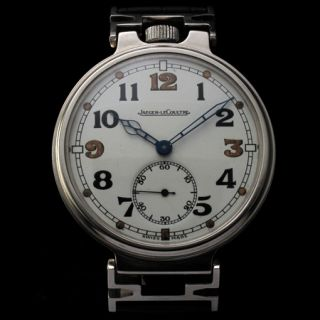 Mens 1940s Jaeger LeCoultre Vintage Watch WWII Era