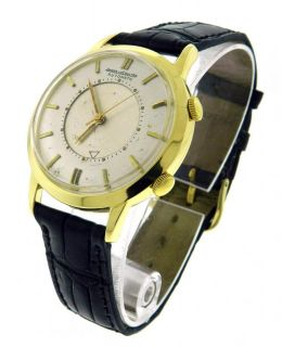 Mens Jaeger LeCoultre Memovox 18K Gold Automatic Alarm Watch