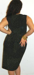 Jaclyn Smith Womans Alligator Goth Pinup Slinky Stretch Secretary
