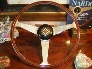 Jaguar E Type XKE 61   75 42 cm 16.5 Nardi Wood Steering Wheel New