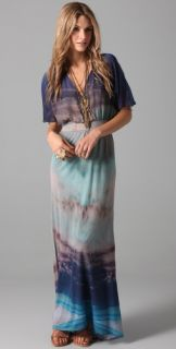 Twelfth St. by Cynthia Vincent Flutter Sleeve Maxi Dress