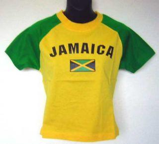 Jamaica Flag Green Yellow Rasta Soccer Jersey T Shirt