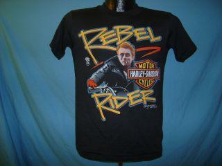 Vintage James Dean Harley Davidson Rebel T Shirt YL