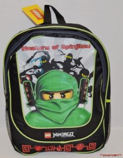 Boys Lego Ninjago Green Ninja Lloyd Backpack Large School Bag Rucksack