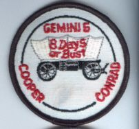 NASA Gemini 5 GT 5 Mission Patch 8 Days or Bust 3