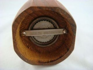 Mid Century Haenlein Winterthur Scandinavian Teak Pepper Mill Grinder