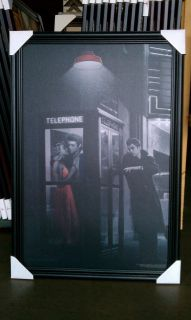 Marilyn Monroe Elvis James Dean Phone Booth Framed Art