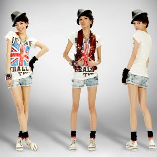 Shirt British England Union Jack Flag Pop Top Women Dress Z