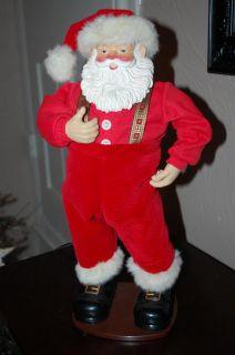 1998 Christmas Jingle Bell Rock Rockin Santa Claus Singing Dancing