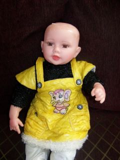 21 Cathay Collection Lifelike Baby Doll w Outfit for Repair No Hair
