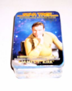 Star Trek Officers Series Metal Cards Mint in Box James T Kirk