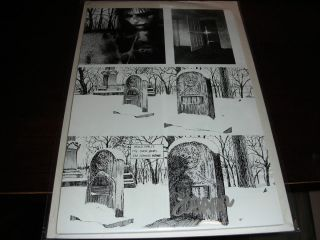 GRAVE WILL OPEN DOOR SIGNED JAMES O BARR NO COA MOUNTED DRY BRD B B