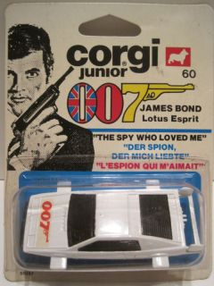Corgi Jr 60 James Bond 007 Lotus Esprit 1977 C 9