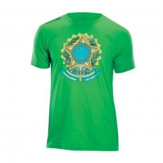 Jaco UFC MMA Brasil Brazil Walkout Shirt Green Size S
