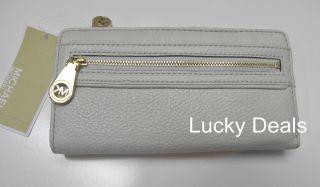 Michael Kors Jamesport Clutch Leather Zip Continental Leather Wallet
