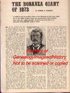 John McKay The Bonanza Giant of 1873 Genealogy