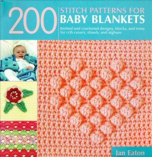 Crochet Stitch Patterns Baby Blankets Jan Eaton Reference Book