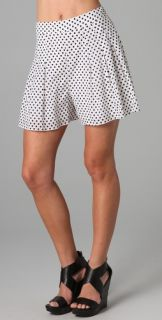 alice + olivia Polka Dot Flutter Shorts