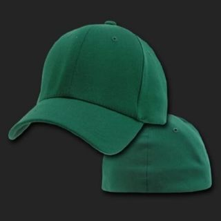 Forest Green Baseball Flex Fit Fitted Cap Hat Caps