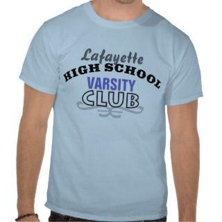 High School Club   Varsity T shirt