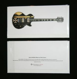 James Hetfields Gibson Les Paul Iron Cross Greeting Card DL Size