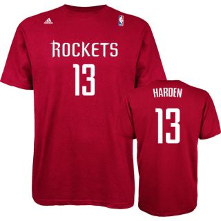 Houston Rockets James Harden Red Name and Number Jersey T Shirt Player