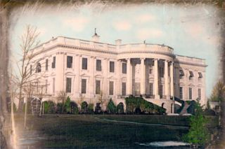 White House 12x8 Hand Color Tinted Photograph Washington DC 1848