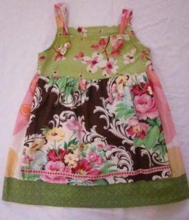 Matilda Jane Homegrown Gracie May Apron Knot Dress 6 Fits 4