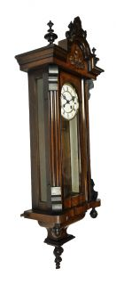 Beautiful Antique German Wall Clock at 1900 R A Pendulum