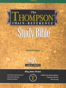 Thompson Chain Reference Bible KJV Large Print New 0887071562