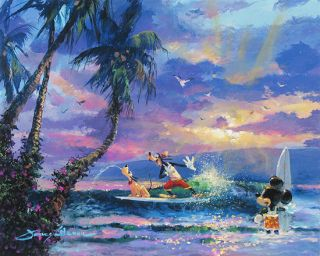 Summer Escape Disney Fine Art Giclee by James Coleman Mint