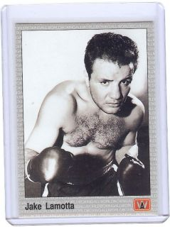 Jake LaMotta The Raging Bull 1991 AW Sports Boxing Card