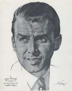 James Stewart 1940 Academy Award 1962 Volpe Portrait