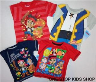 Jake and The Neverland Pirates Toddler Boys 2T 3T 4T 5T Tee Shirt Top