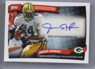 Topps Performance James Starks Green Bay Packer Certified Auto Issue