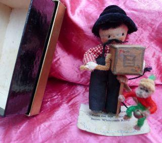 Miniatures Mildred Davis doll Organ Grinder James Whitcomb Riley