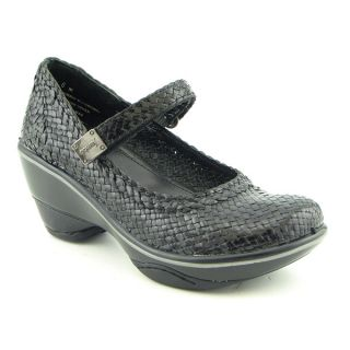 Jambu Mumbai Mary Jane Wedge Shoes Black Womens